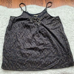 Aerie black Gold Dotted sequin cami tank top XS